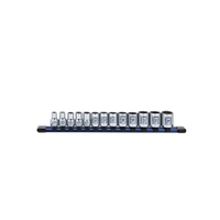 "Image Sunex 38101C 13Pc. 3/8"" Dr Standard Socket Set MM 12pt on rail"