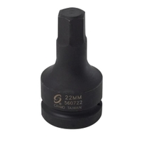 "Image Sunex 560722 1""Dr. 22mm Hex Bit Socket"
