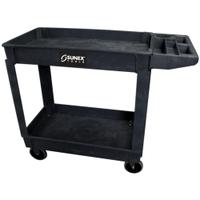 Image Sunex 8034 Standard Plastic Utility Cart - Black