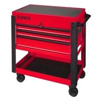 Image Sunex 8035XT 3 Drawer Slide Top Utility Cart w/ Power - Red