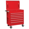 Image Sunex 8057 6 Full Drawer Professional Duty Cart - Red