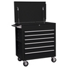 Image Sunex 8057BK Full Drawer Professional Duty Cart-Black