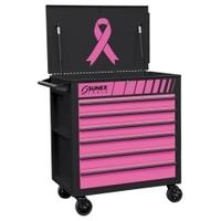 Image Sunex 8057PK Premium Full Drawer Service Cart - PINK/BLACK