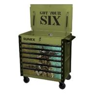 Image Sunex 8057XTDLGYS Sunex Tools Premium Full-Drawer Service Cart, Got