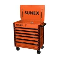 Image Sunex 8057XTOR Sunex Tools Premium Full-Drawer Service Cart, Ora