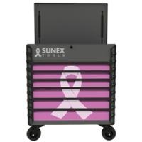 Image Sunex 8057XTPK Premium Full Service Cart-Pink