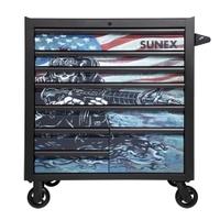 Image Sunex 8060MBUSASKULL Sunex Tools 8-Drawer Premium Service Cart-Matte B