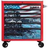 Image Sunex 8060USASKULL Sunex Tools 8-Drawer Premiun Service Cart - Matte