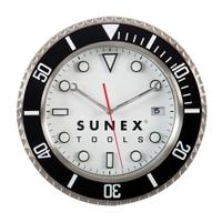 Image Sunex SUNCLK16 SUNEX STAINLESS STEEL SHOP CLOCK