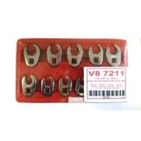 "Image V-8 Tools V8 7211 11 PC 3/8"" DR. METRIC CROWFOOT WRENCH SET"