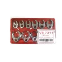 Image V-8 Tools 7311 11 PC. SAE FLARE NUT CROWFOOT WR. SET