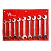 Image V-8 Tools 819 9pc Jumbo metric angle wrench set, sizes 24-32mm
