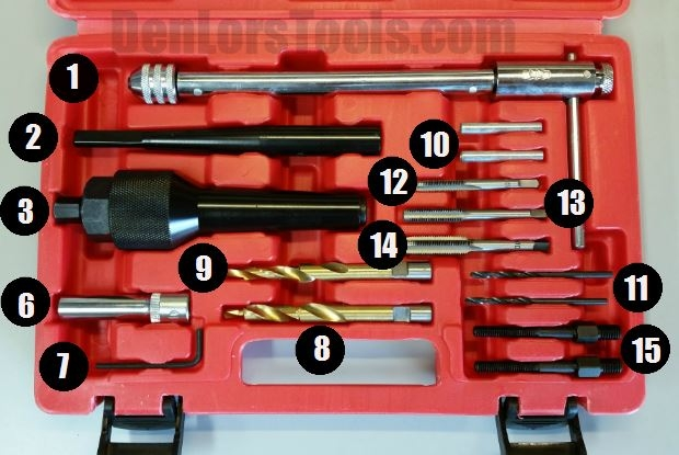 Tool connection 5205 Damaged Glow Plug Removal Set Laser